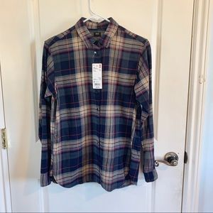 (NWT) Uniqlo | Plaid Flannel Long Sleeve Shirt